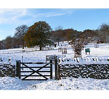 Snowy Gloucestershire England UK Photographic Print
