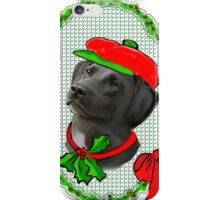 Black Lab Christmas iPhone Case/Skin