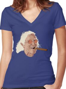 Jimmy Savile Women's Fitted V-Neck T-Shirt