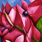 Cyclamen Pink Abstract by rasama