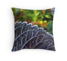 Chained By Frost Throw Pillow
