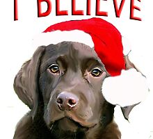 Chocolate Lab Christmas themed by IowaArtist