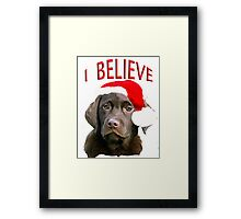 Chocolate Lab Christmas themed Framed Print