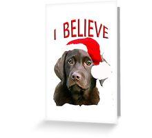 Chocolate Lab Christmas themed Greeting Card