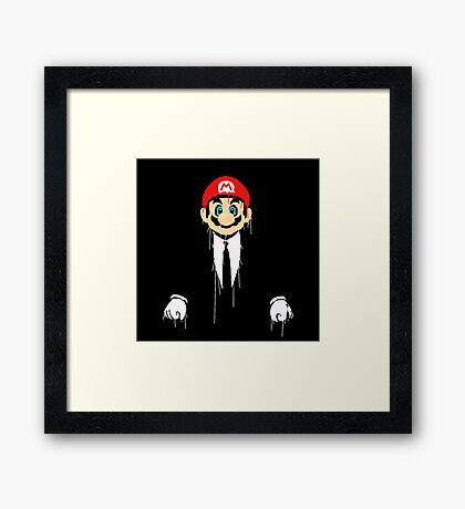 Mario cool Framed Print