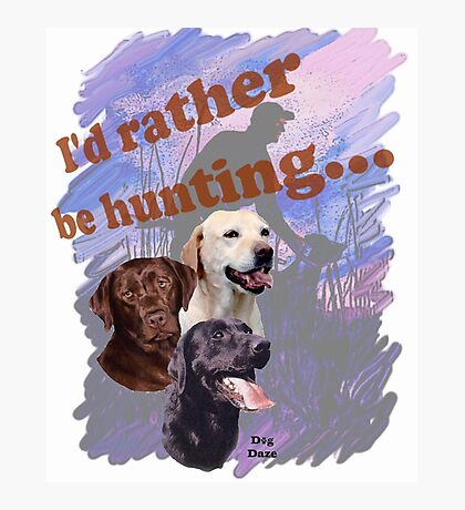 Hunting Labrador Retriever Photographic Print