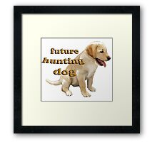Yellow Lab Puppy Hunting Framed Print