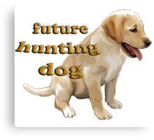Yellow Lab Puppy Hunting Canvas Print