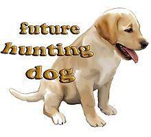 Yellow Lab Puppy Hunting Photographic Print