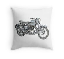 1951 Triumph Thunderbird Motorcycle Throw Pillow