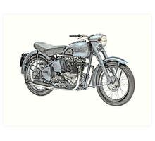1951 Triumph Thunderbird Motorcycle Art Print
