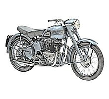 1951 Triumph Thunderbird Motorcycle Photographic Print