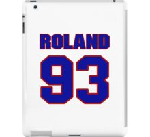 National football player Benji Roland jersey 93 iPad Case/Skin