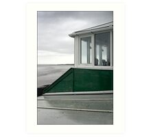 Cafe window at Weston-super-Mare Art Print
