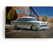 1955 Chevy 'Door Slammer' Post Coupe Metal Print
