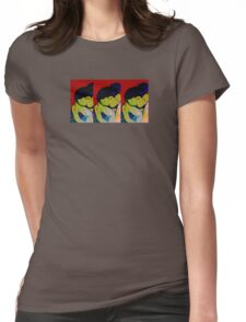 Red girl Resting Womens Fitted T-Shirt
