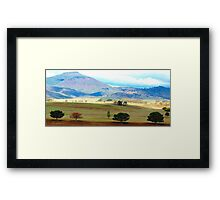 Valley of Colour- Southern NSW, Australia Framed Print