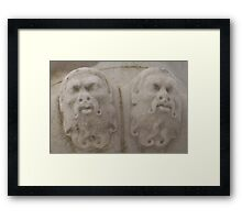 Stone Faces Framed Print