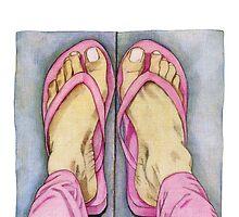 Pink Feet! by Mariana Musa