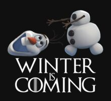 Olaf Winter is coming game of thrones by ledadou