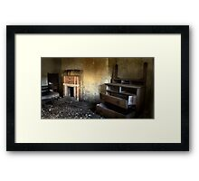 Decaying Bedroom Framed Print
