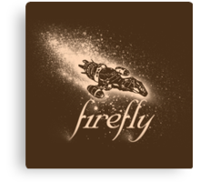Firefly Silhouette Canvas Print