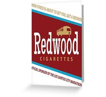 Redwood Cigarettes Greeting Card