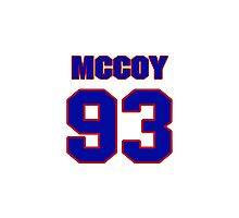 National football player Gerald McCoy jersey 93 Photographic Print