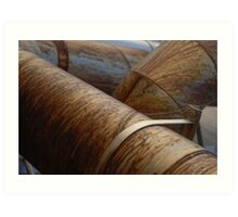Rusty Pipes Art Print