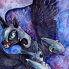 Nightmare Moon in watercolor by Anarchpeace