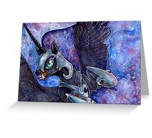 Nightmare Moon in watercolor Greeting Card