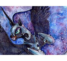 Nightmare Moon in watercolor Photographic Print