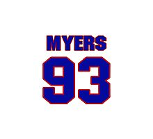 National football player Michael Myers jersey 93 Photographic Print