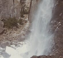 Base of Yosemite Falls California by Dennis Knecht