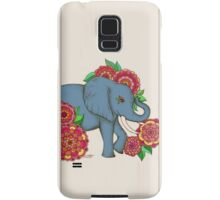 Little Blue Elephant in her secret garden Samsung Galaxy Case/Skin