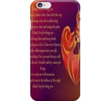 Thank You for Being You Poetry Greeting Card iPhone Case/Skin