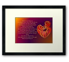 Thank You for Being You Poetry Greeting Card Framed Print