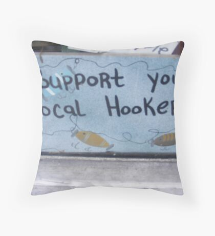 hookers Throw Pillow