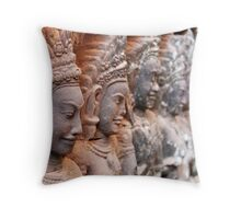 Women of the Leper King Teraces, Cambodia Throw Pillow