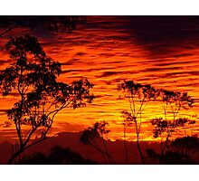 Fire in the Sky........... Photographic Print