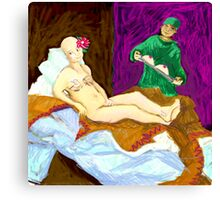 Olympia (After the op;one breast or two?) Canvas Print