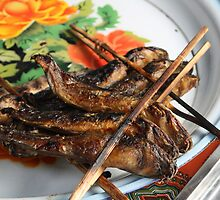 Barbequed Fish Skewers, Cambodia by Leigh Penfold
