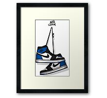 FRAGMENT DESIGN X AIR JORDAN 1 RETRO HIGH OG Framed Print