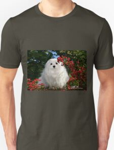 Snowdrop the Maltese & Red Berries T-Shirt