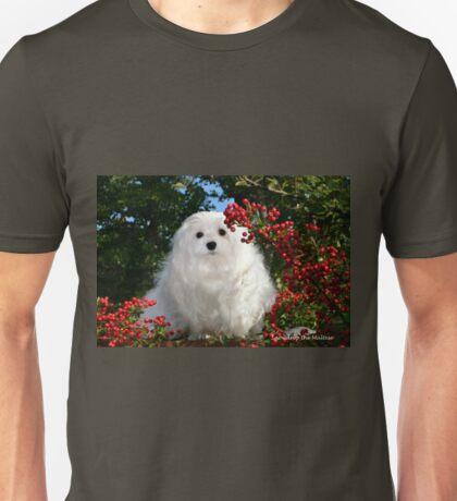 Snowdrop the Maltese & Red Berries Unisex T-Shirt