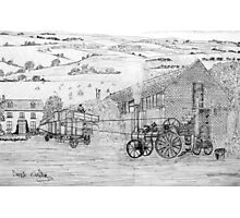 My pencil drawing of Steam Threshing in Yorkshire Photographic Print