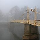 Victoria bridge in the fog 2. by wesleyj1954