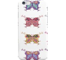 Colored butterflies 4 iPhone Case/Skin