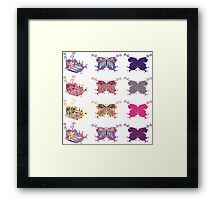 Colored butterflies 4 Framed Print