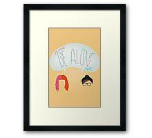 be alone together Framed Print